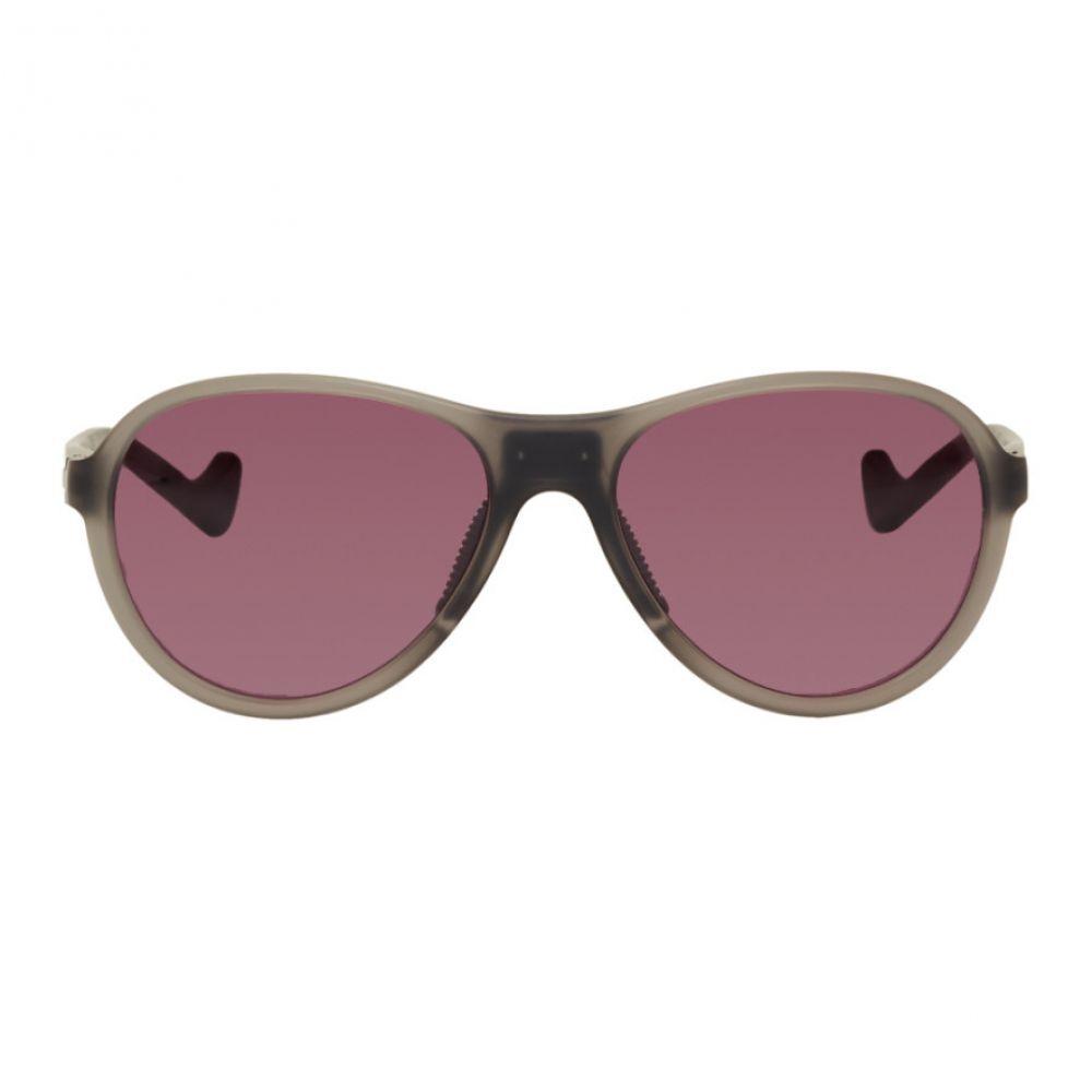 ディストリクトヴィジョン District Vision メンズ メガネ・サングラス【Grey & Pink Kaishiro Explorer Sunglasses】