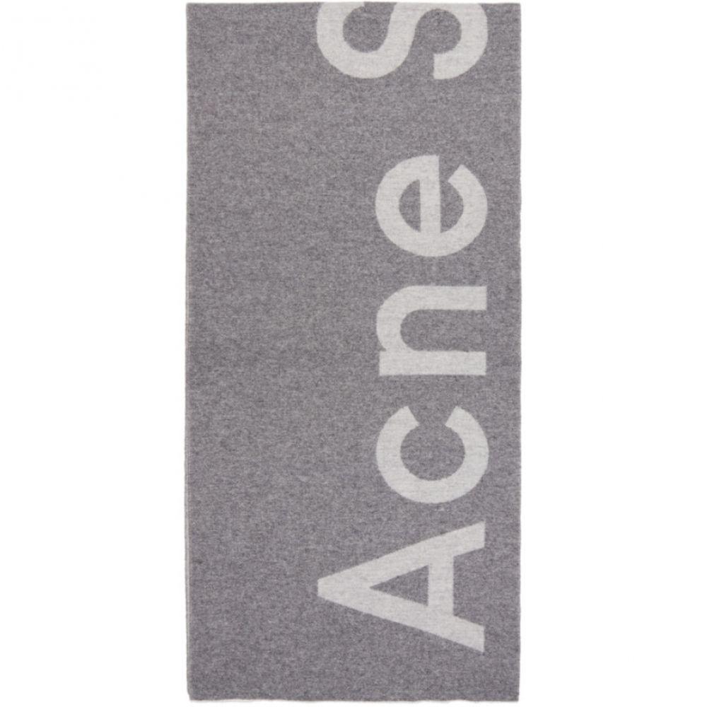 アクネ ストゥディオズ Acne Studios レディース マフラー・スカーフ・ストール【Grey Toronty Logo Scarf】