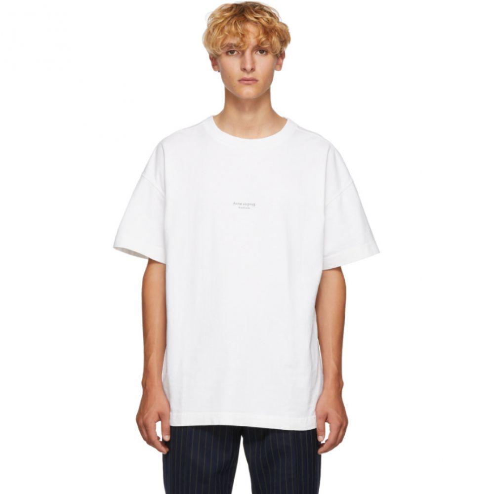 アクネ ストゥディオズ Acne Studios メンズ トップス Tシャツ【White Distressed Logo T-Shirt】