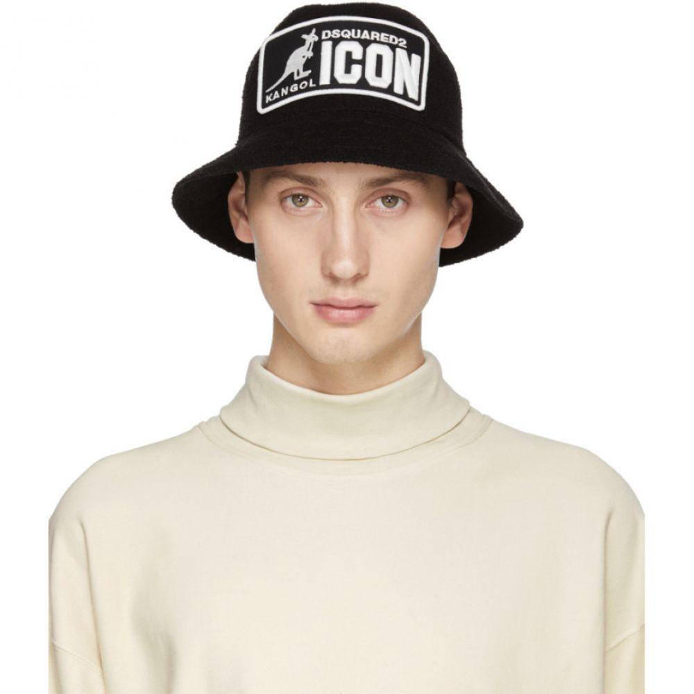 ディースクエアード Dsquared2 メンズ 帽子 ハット【Black & White Kangaroo Bucket Hat】
