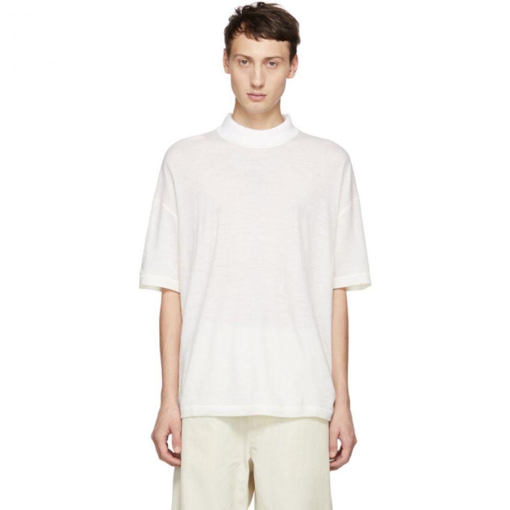 ジル サンダー Jil Sander メンズ トップス Tシャツ【White Mock Neck T-Shirt】