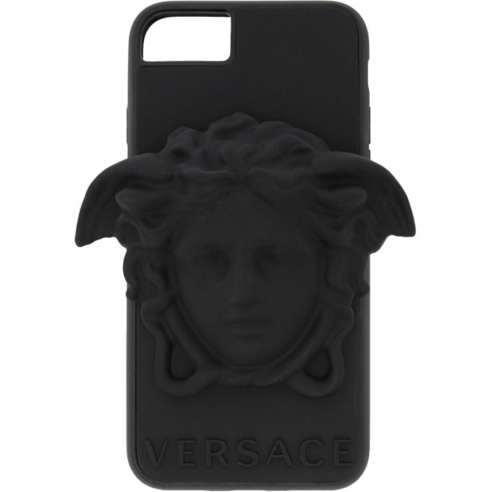 ヴェルサーチ Versace メンズ iPhone (8)ケース【Black 3D Medusa iPhone 8 Case】
