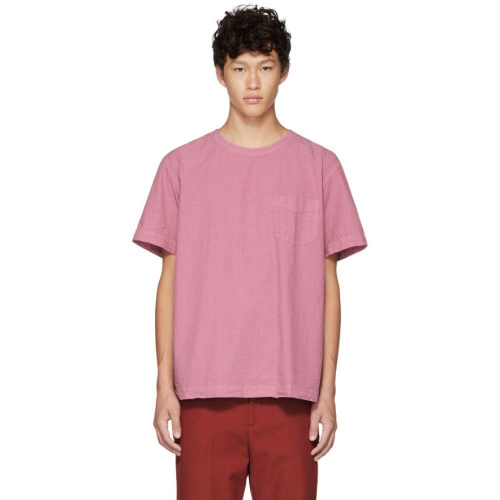 シュナイダーマン Schnayderman's メンズ トップス Tシャツ【Pink Poplin T-Shirt】