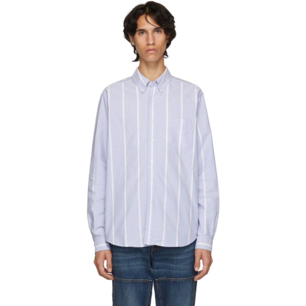 ホープ HOPE メンズ トップス シャツ【Blue Striped Button Down Shirt】