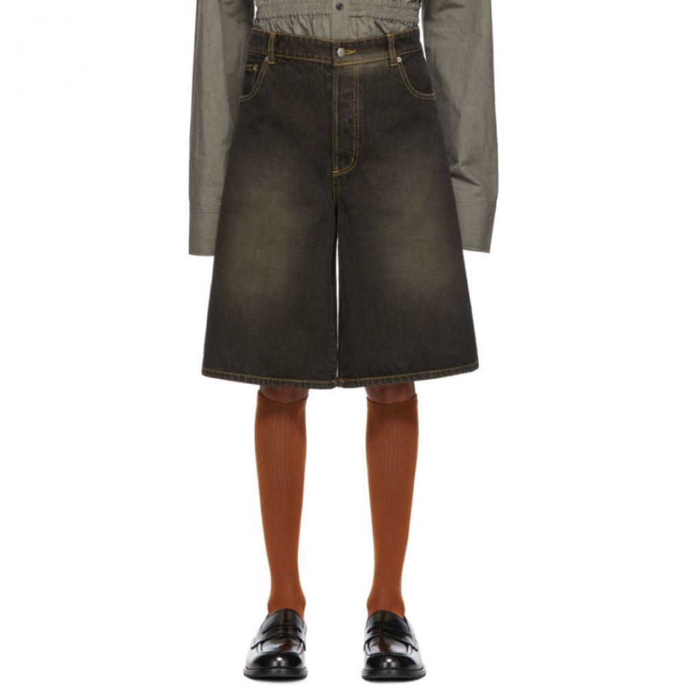 チン メンズ Chin Mens メンズ ボトムス・パンツ ショートパンツ【Black Brick Dyed Denim Shorts】