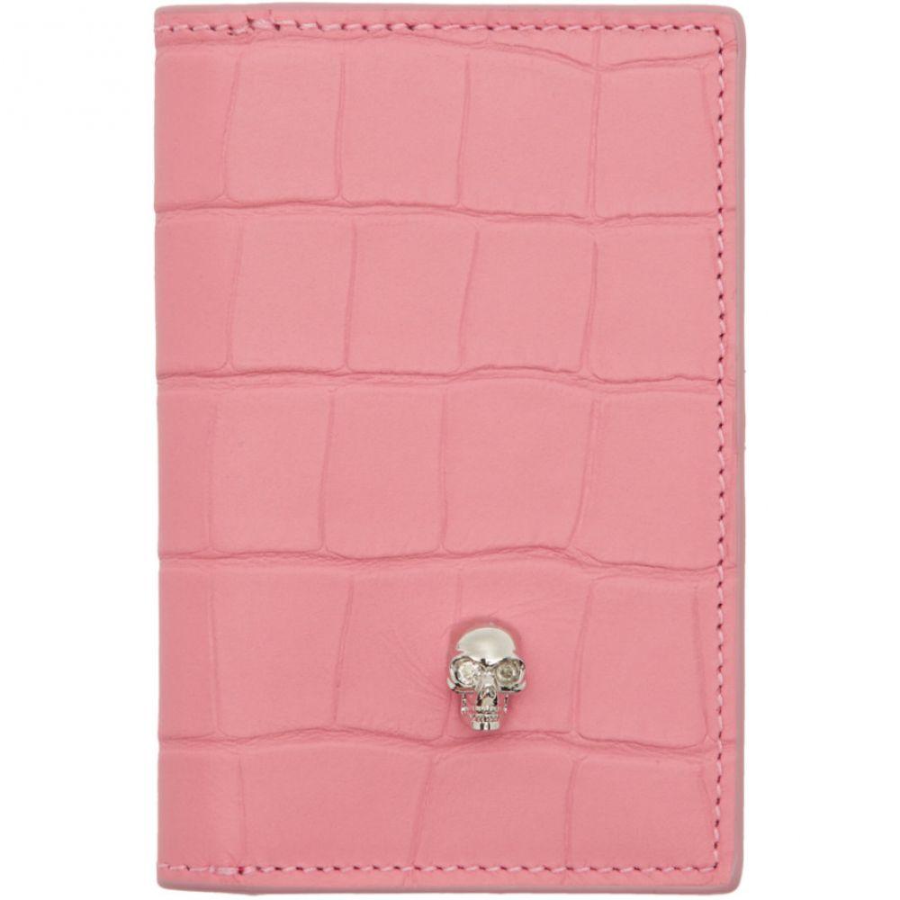 アレキサンダー マックイーン Alexander McQueen レディース カードケース・名刺入れ【Pink Skull Bifold Card Holder】