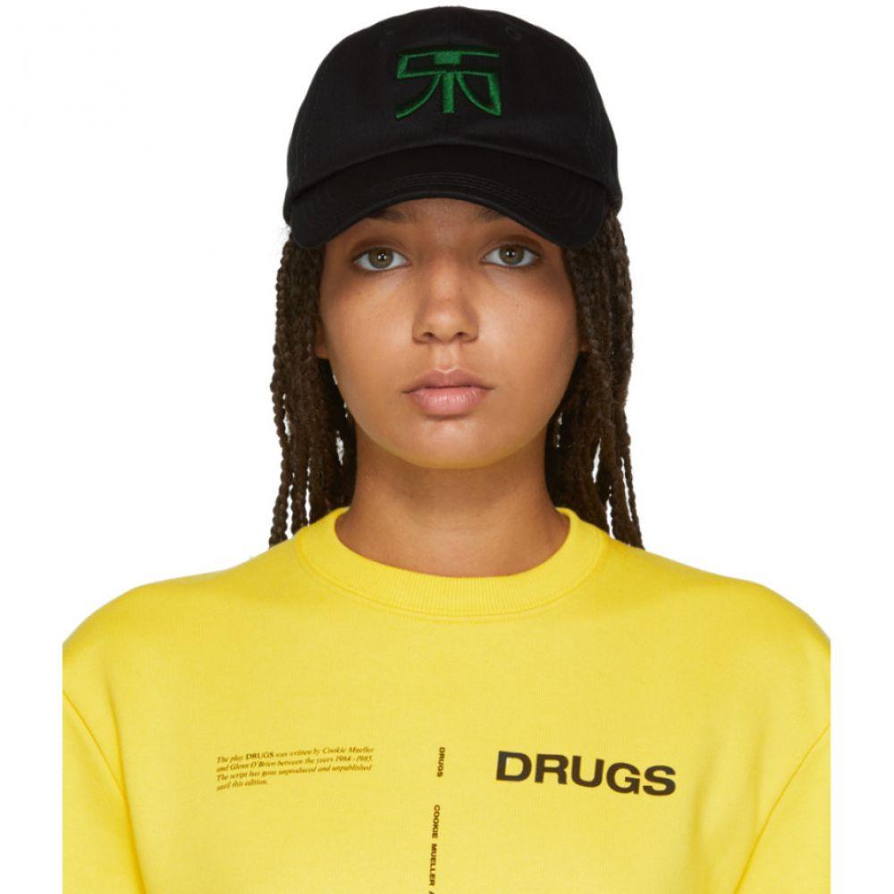 ラフ シモンズ Raf Simons レディース 帽子 キャップ【Black Embroidered Logo Baseball Cap】