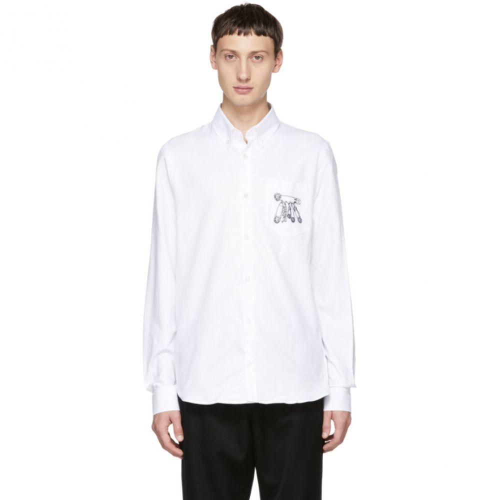 ヴェルサーチ Versus メンズ トップス シャツ【White Safety Pins Shirt】
