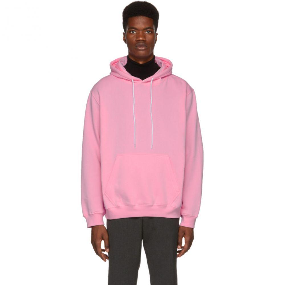 エムエスジーエム MSGM メンズ トップス パーカー【Pink Backwards Logo Hoodie】