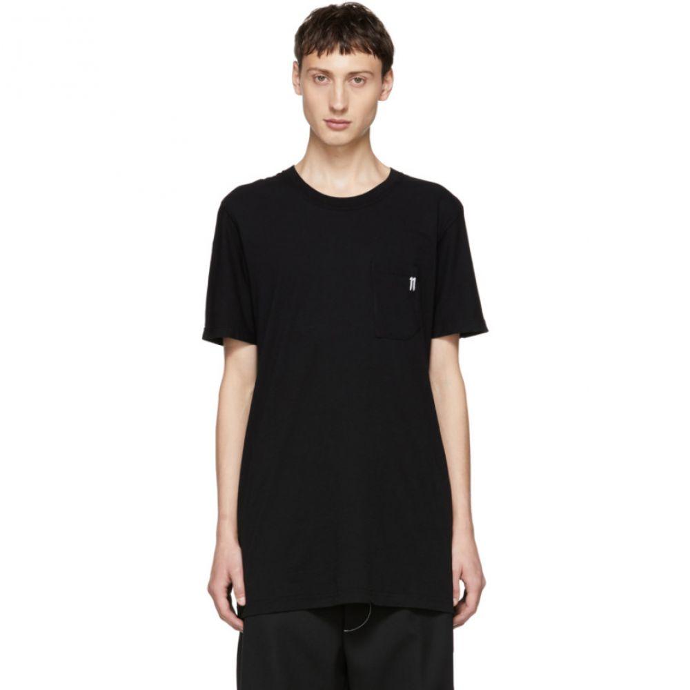 ボリス ビジャン サベリ 11 by Boris Bidjan Saberi メンズ トップス Tシャツ【Black Small Logo T-Shirt】
