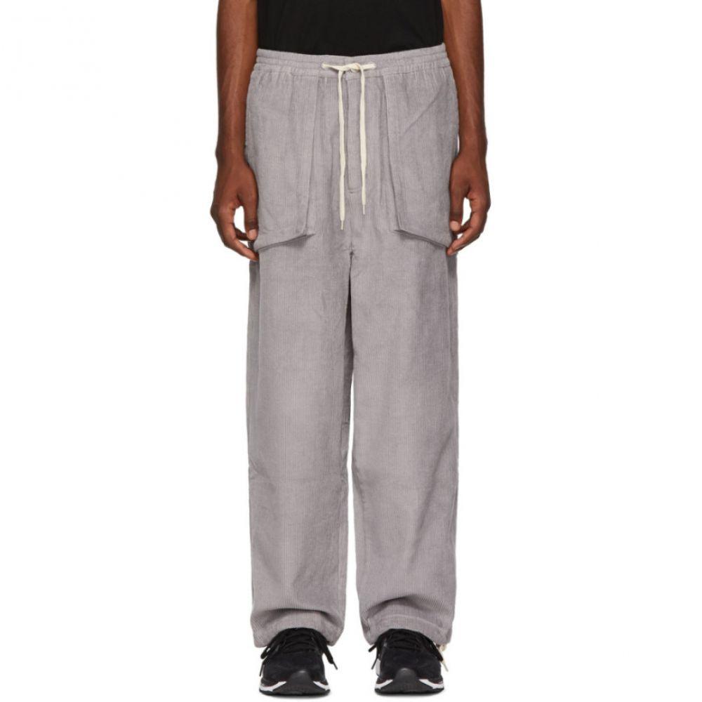 パークスアンドミニ Perks and Mini メンズ ボトムス・パンツ【Grey Corduroy Return Trousers】