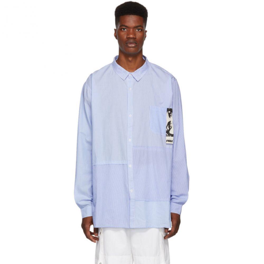 パークスアンドミニ Perks and Mini メンズ トップス シャツ【Blue Planar Stripe Shirt】
