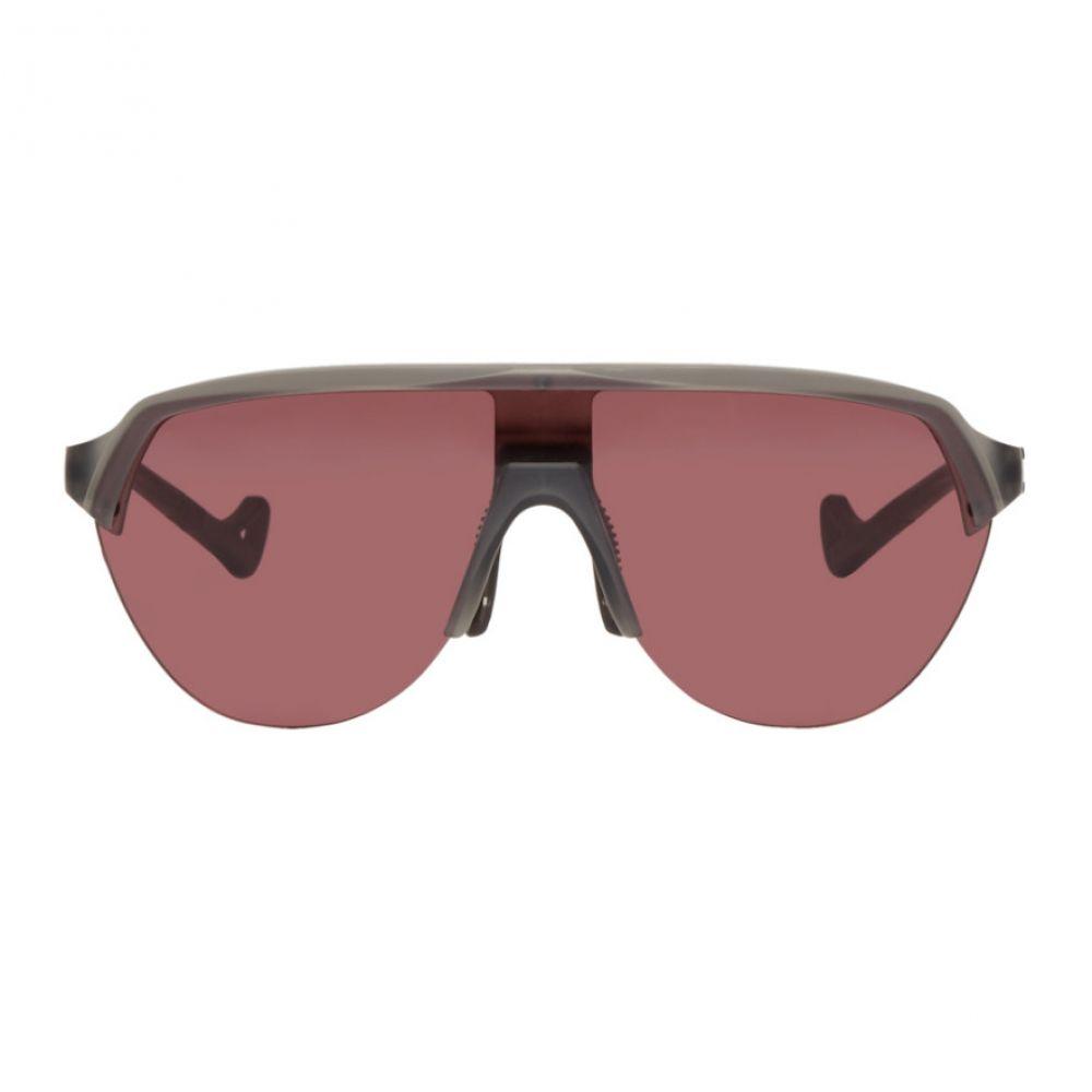 ディストリクトヴィジョン District Vision メンズ メガネ・サングラス【Grey & Pink Nagata Speed Blade Sunglasses】