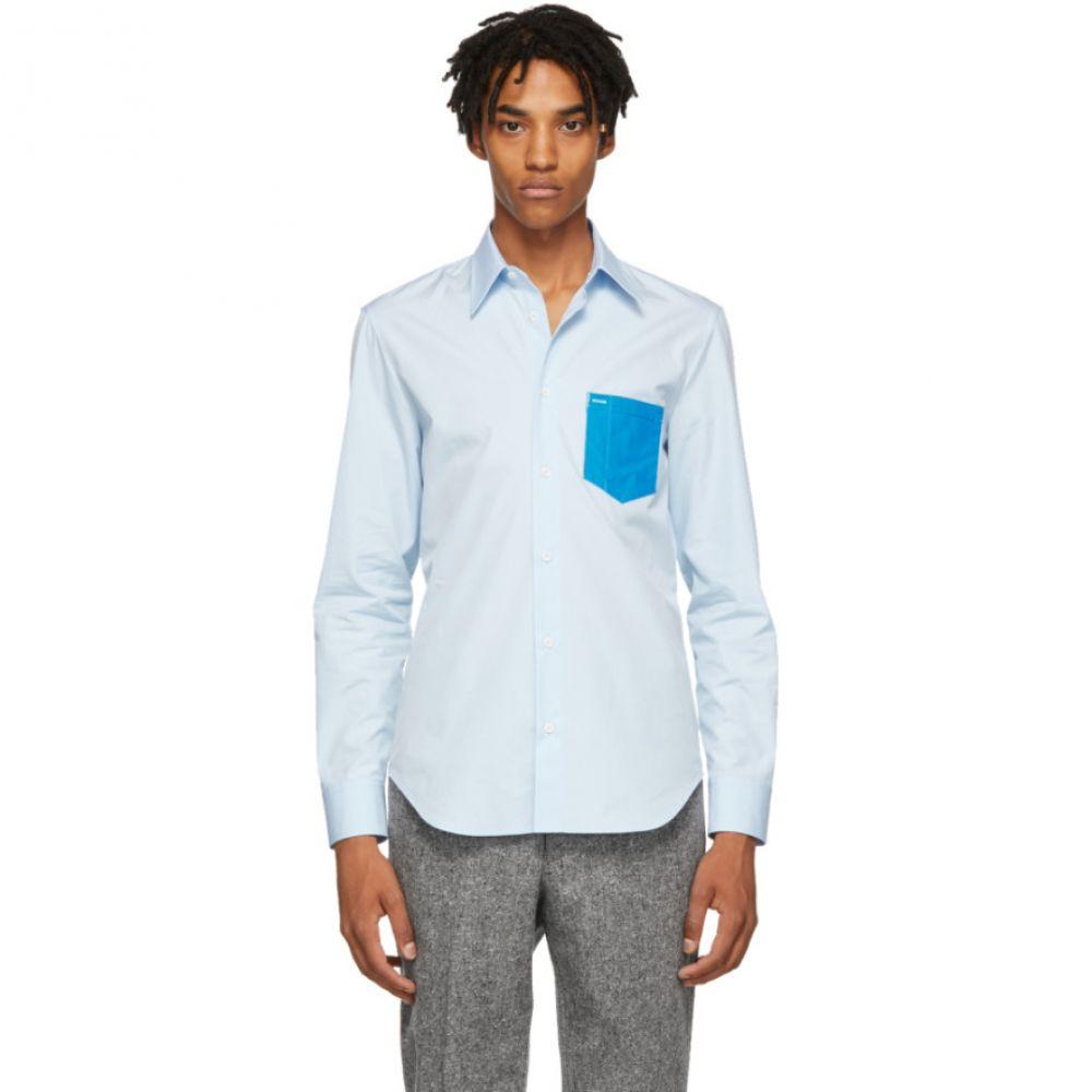 メゾン マルジェラ Maison Margiela メンズ トップス シャツ【Blue Poplin PVC Shirt】