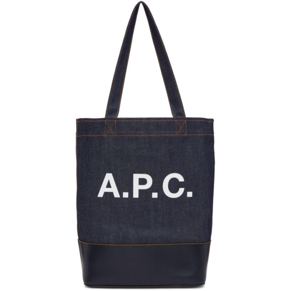 アーペーセー A.P.C. レディース バッグ トートバッグ【Navy Denim Axel Tote Bag】