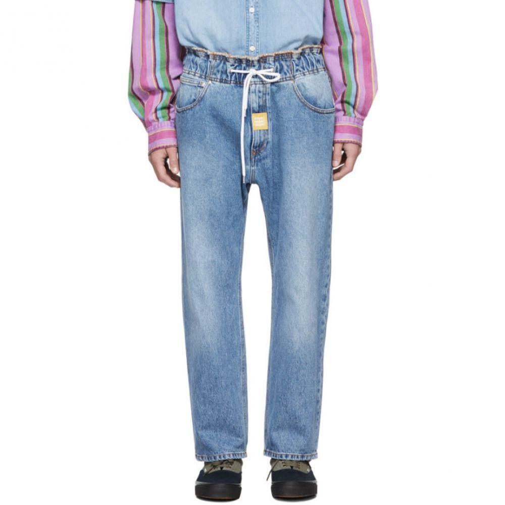 エムエスジーエム MSGM メンズ ボトムス・パンツ ジーンズ・デニム【Blue Drawstring Jeans】