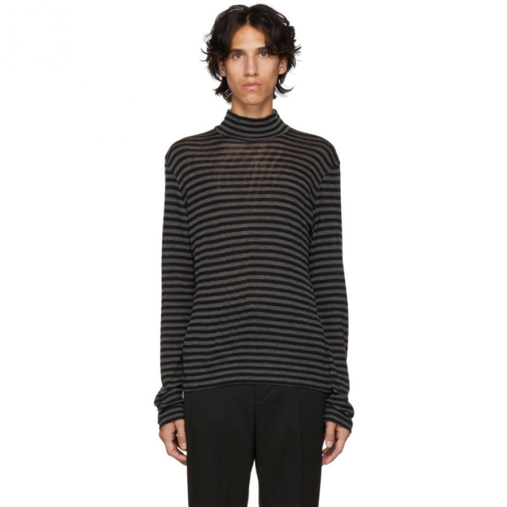 ジョン ローレンス サリバン Johnlawrencesullivan メンズ トップス ニット・セーター【Black & Grey Wool Mock Neck Sweater】