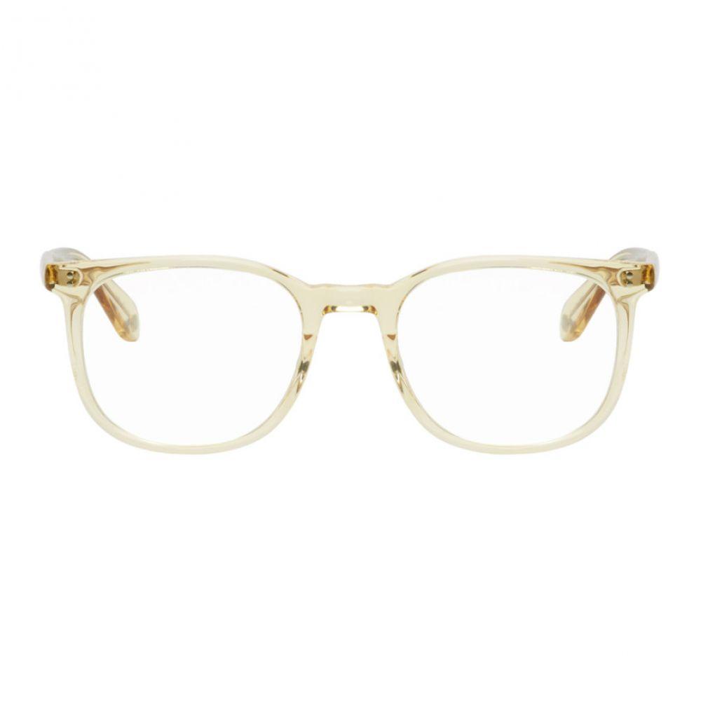 ギャレットライト Garrett Leight メンズ メガネ・サングラス【Beige Transparent Bentley 51 Glasses】
