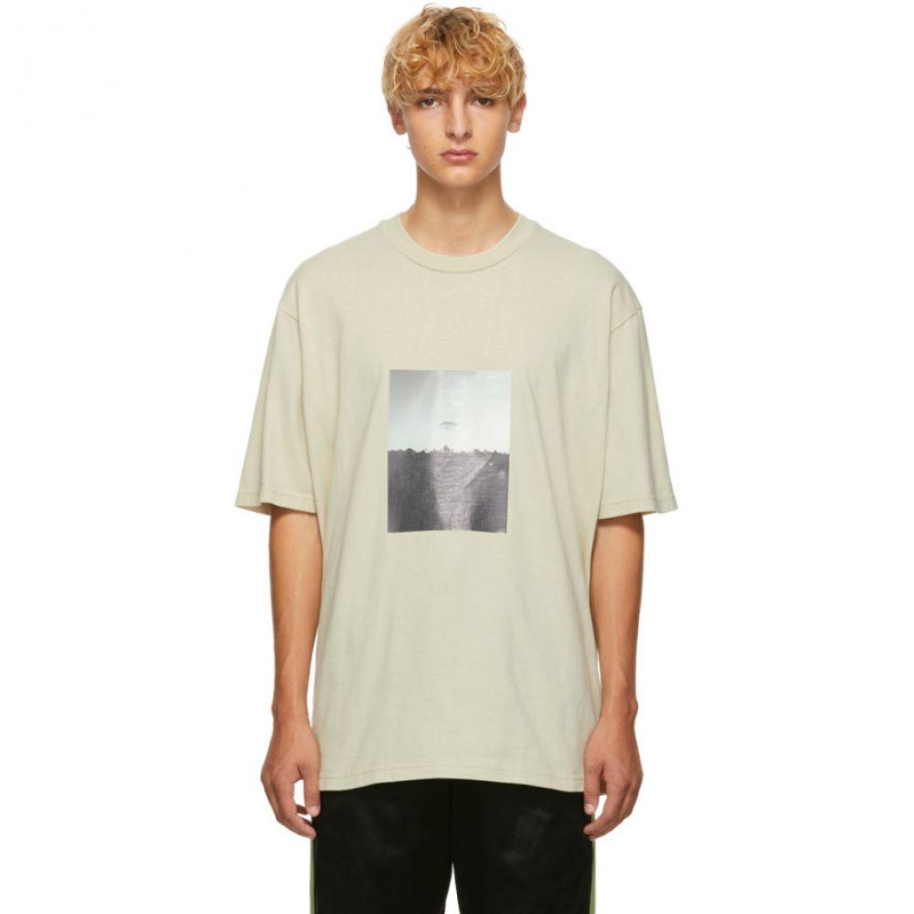 ソング フォー ザ ミュート Song for the Mute メンズ トップス Tシャツ【Beige 'Plastic' Oversized T-Shirt】