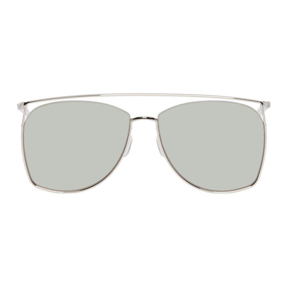 ジェントルモンスター Gentle Monster メンズ メガネ・サングラス【Silver & Khaki Tick Tock Sunglasses】