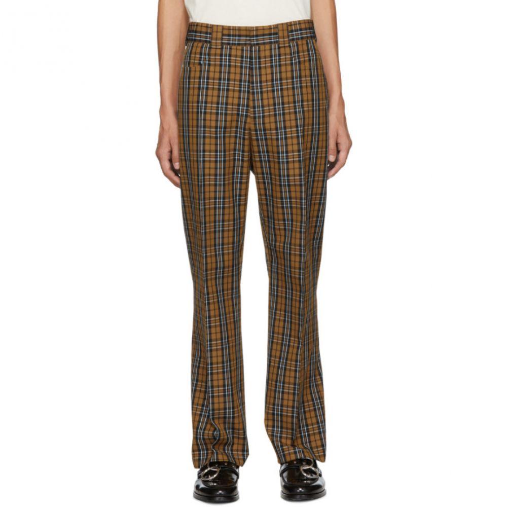 ホープ HOPE メンズ ボトムス・パンツ【Beige & Blue Check Ric Trousers】