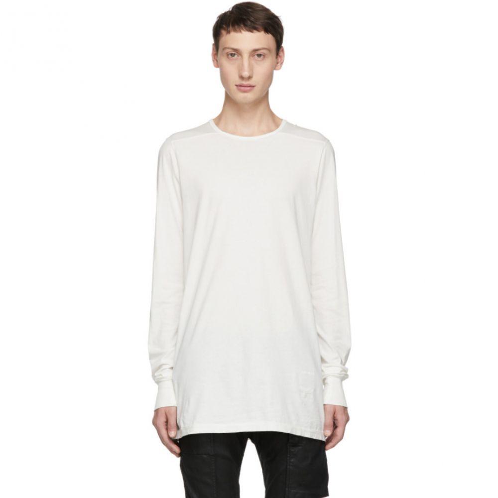 リック オウエンス Rick Owens Drkshdw メンズ トップス 長袖Tシャツ【White Level Long Sleeve T-Shirt】