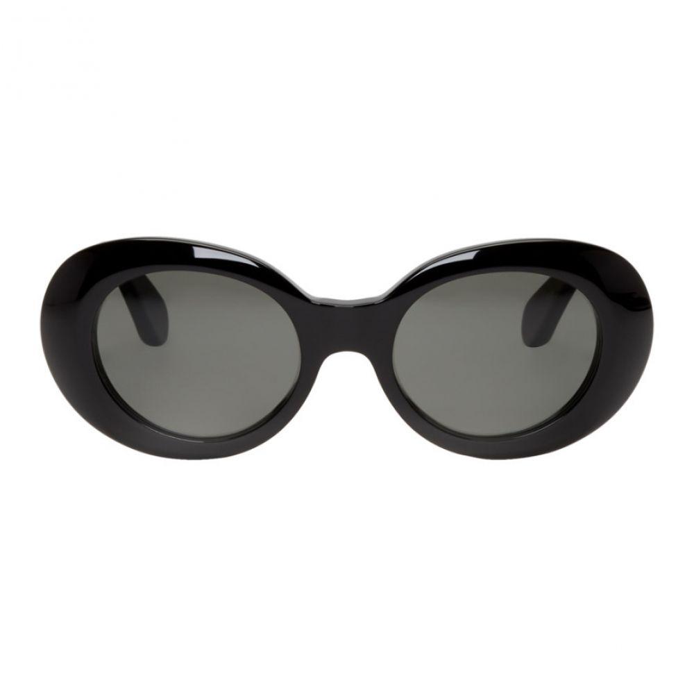 アクネ ストゥディオズ Acne Studios メンズ メガネ・サングラス【Black Mustang Round Sunglasses】