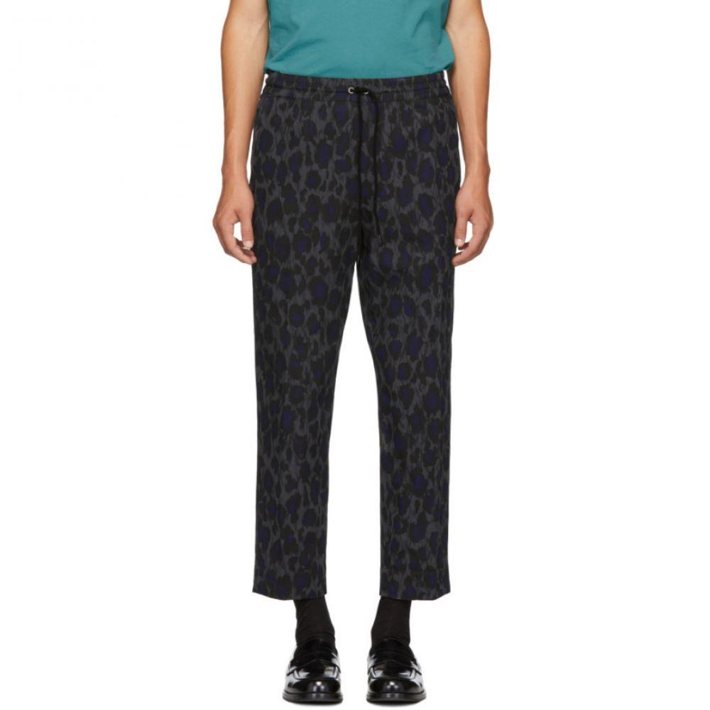 ケンゾー Kenzo メンズ ボトムス・パンツ【Grey Leopard Drawstring Trousers】