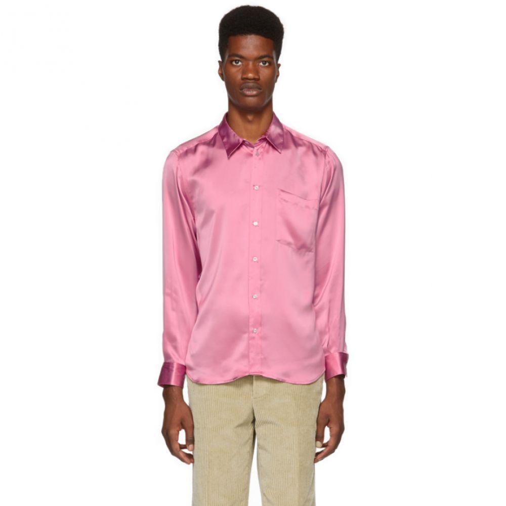 エムエスジーエム MSGM メンズ トップス シャツ【Pink Viscose Silky Shirt】