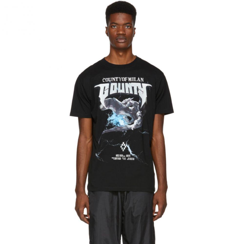 マルセロバーロン Marcelo Burlon County of Milan メンズ トップス Tシャツ【Black Dragon T-Shirt】
