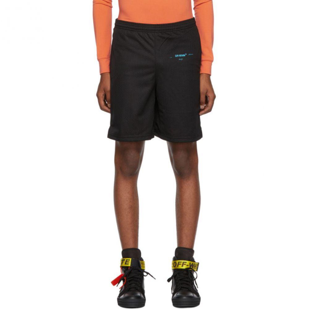 オフ-ホワイト Off-White メンズ ボトムス・パンツ ショートパンツ【Black Gradient Mesh Shorts】