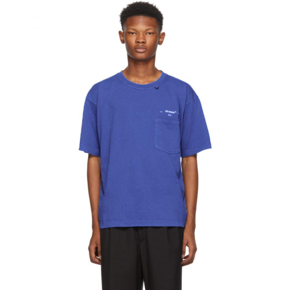 オフ-ホワイト Off-White メンズ トップス Tシャツ【Blue 80's Vintage T-Shirt】