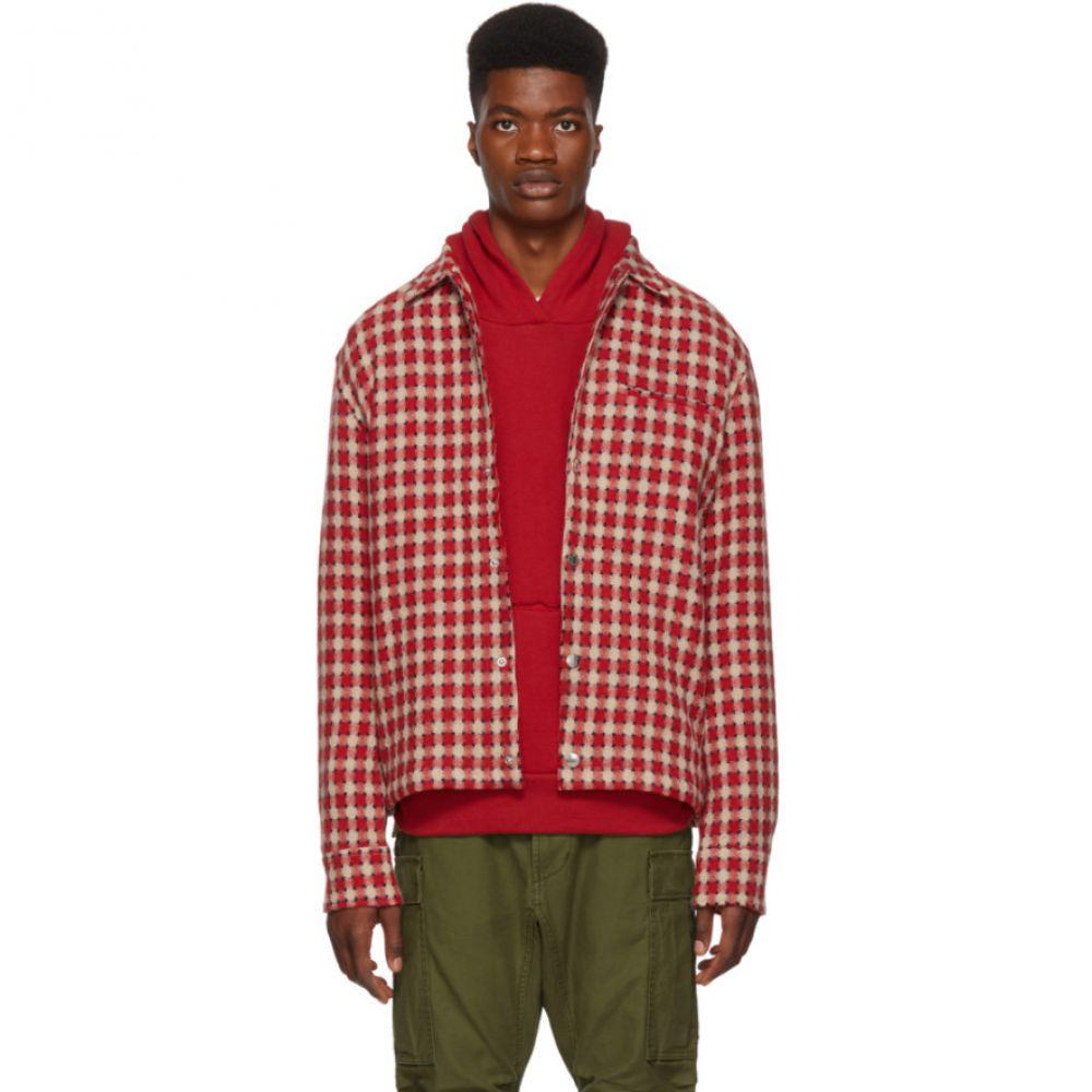サイモンミラー Simon Miller メンズ トップス シャツ【Red Dimensional Plaid Shirt】