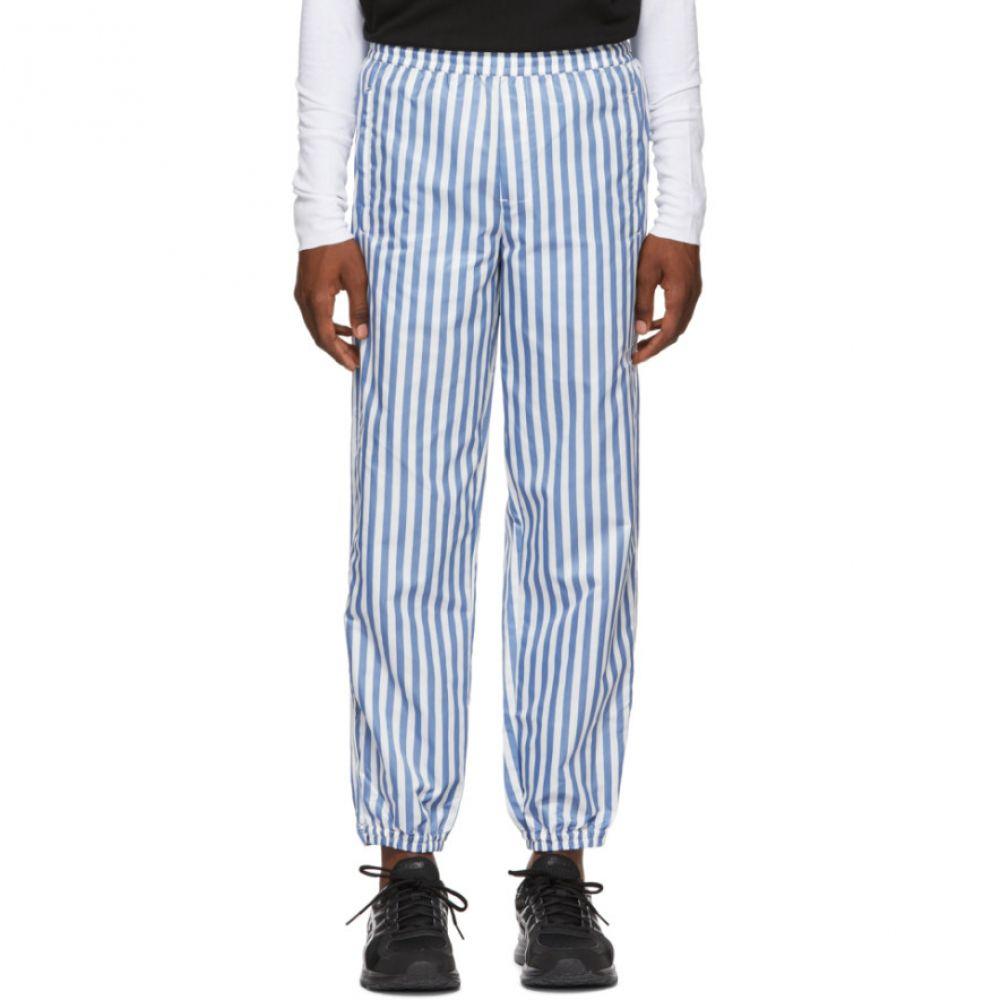 ワンダース Wonders メンズ ボトムス・パンツ スウェット・ジャージ【White & Blue Stripe Camp Track Pants】