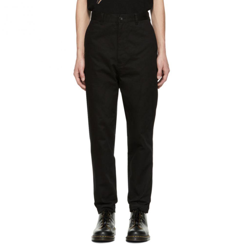 Homme Selvedge Chino ギャルソン des コム デ チノパン【Black メンズ Garcons Trousers】 Comme ボトムス・パンツ