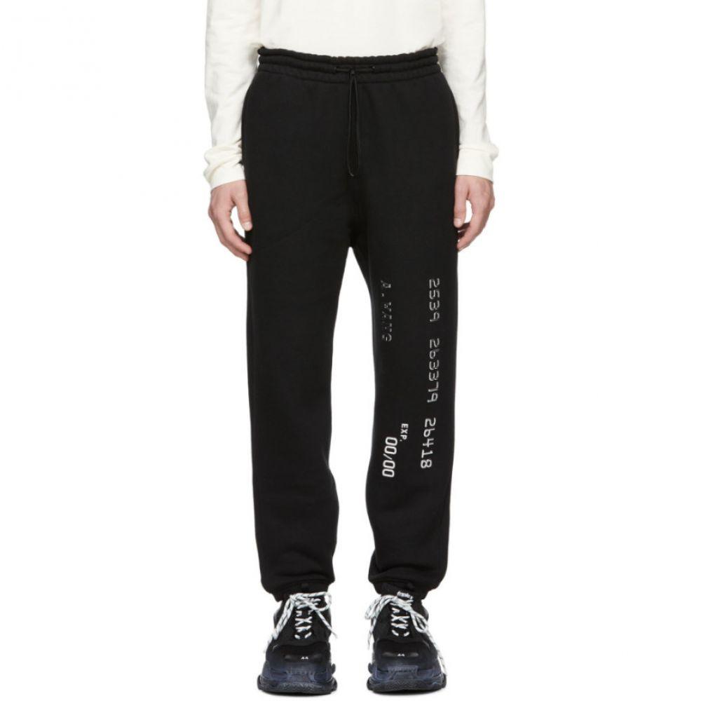 アレキサンダー ワン Alexander Wang メンズ ボトムス・パンツ スウェット・ジャージ【Black Credit Card Lounge Pants】