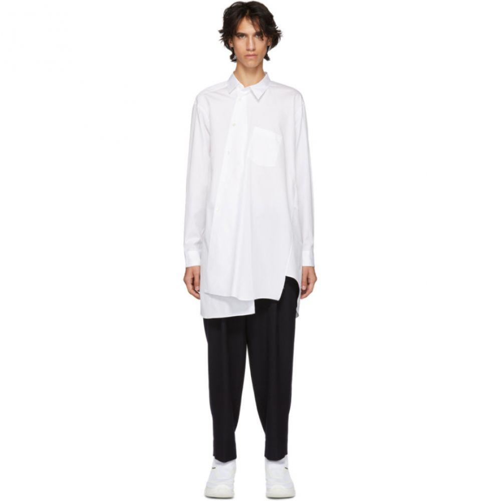 コム デ ギャルソン Comme des Garcons Homme Plus メンズ トップス シャツ【White Asymmetric Cotton Shirt】