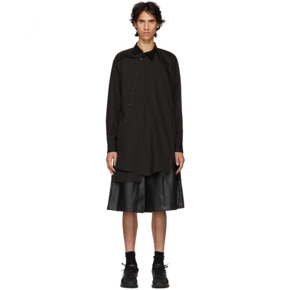 コム デ ギャルソン Comme des Garcons Homme Plus メンズ トップス シャツ【Black Broad Asymmetric Shirt】
