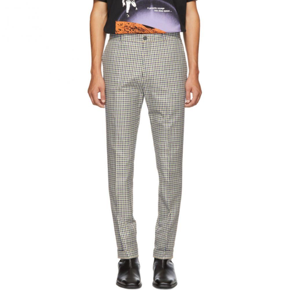 ケンゾー Kenzo メンズ ボトムス・パンツ【Blue & White Twill Check Trousers】