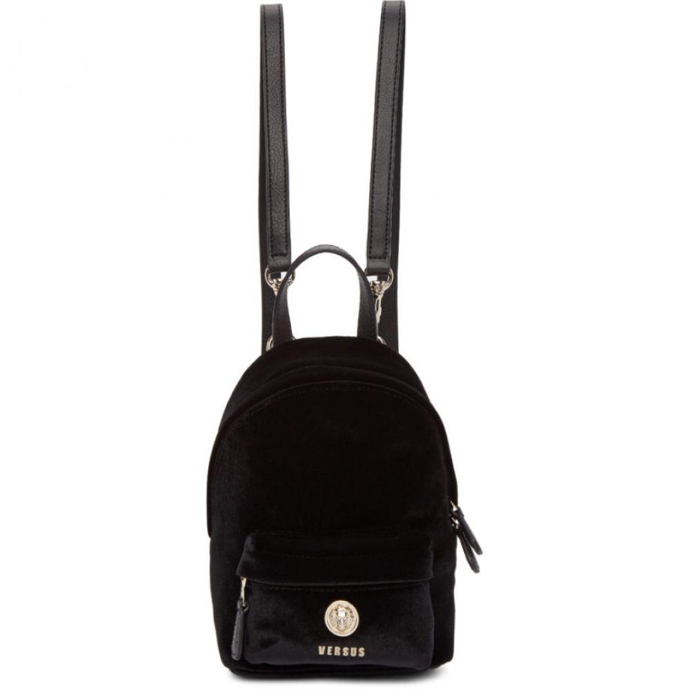ヴェルサーチ Versus レディース バッグ バックパック・リュック【Black Small Lion Velvet Backpack】
