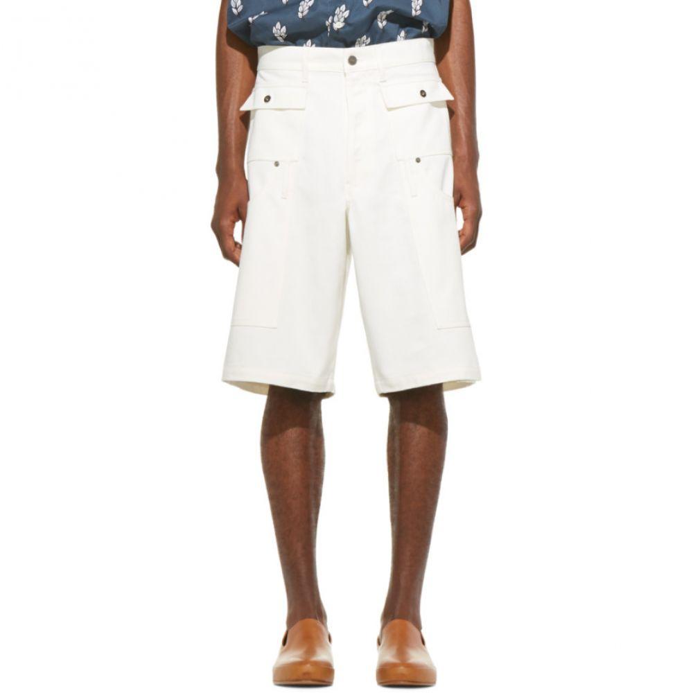 ジャックムス Jacquemus メンズ ボトムス・パンツ ショートパンツ【SSENSE Exclusive White Denim 'Le Short Pecheur' Shorts】