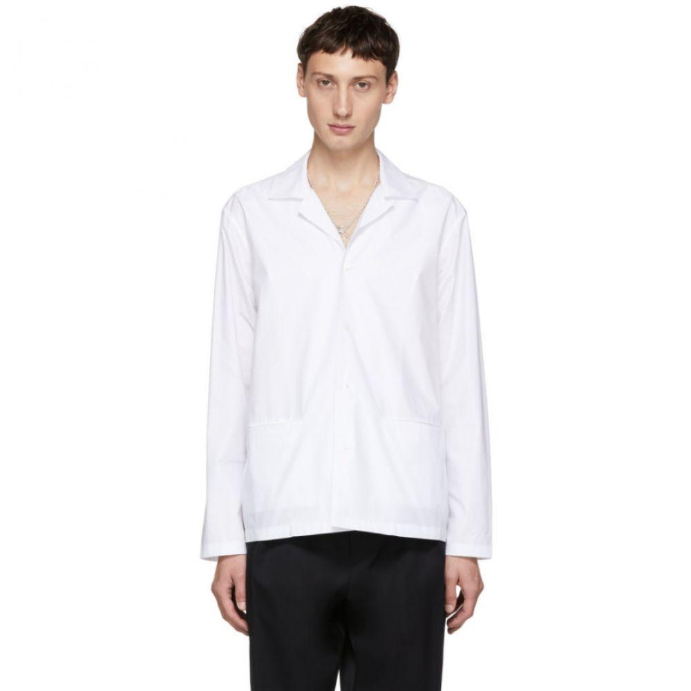 スタジオ ニコルソン Studio Nicholson メンズ トップス シャツ【White Camp Collar Box Shirt】
