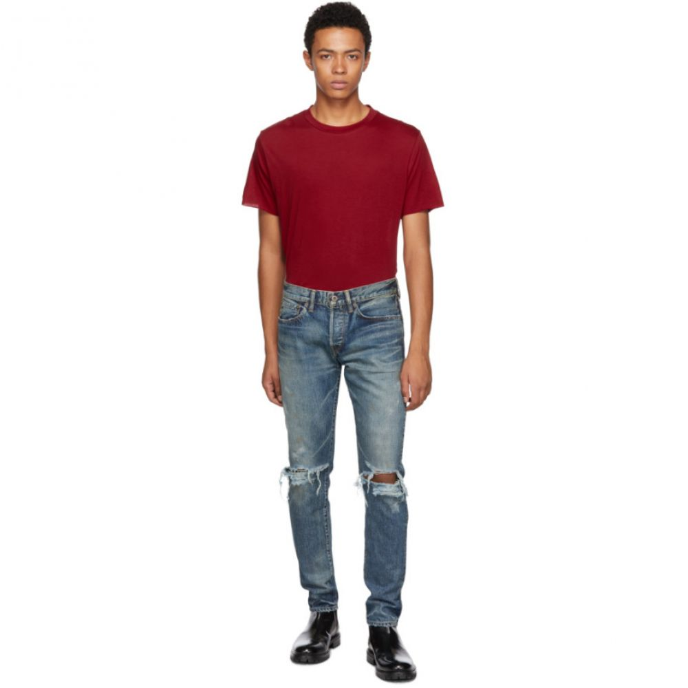 サイモンミラー Simon Miller メンズ ボトムス・パンツ ジーンズ・デニム【Indigo Mitoyo Distressed Jeans】