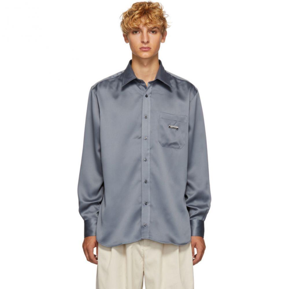 リベイロン Ribeyron メンズ トップス シャツ【Grey Shiny Shirt】
