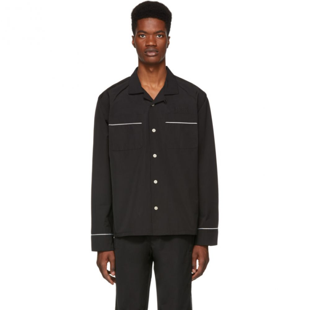 ワンダース Wonders メンズ トップス シャツ【Black Camp Pyjama Shirt】