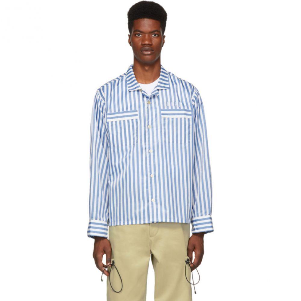 ワンダース Wonders メンズ トップス シャツ【Blue & White Stripe Camp Pyjama Shirt】