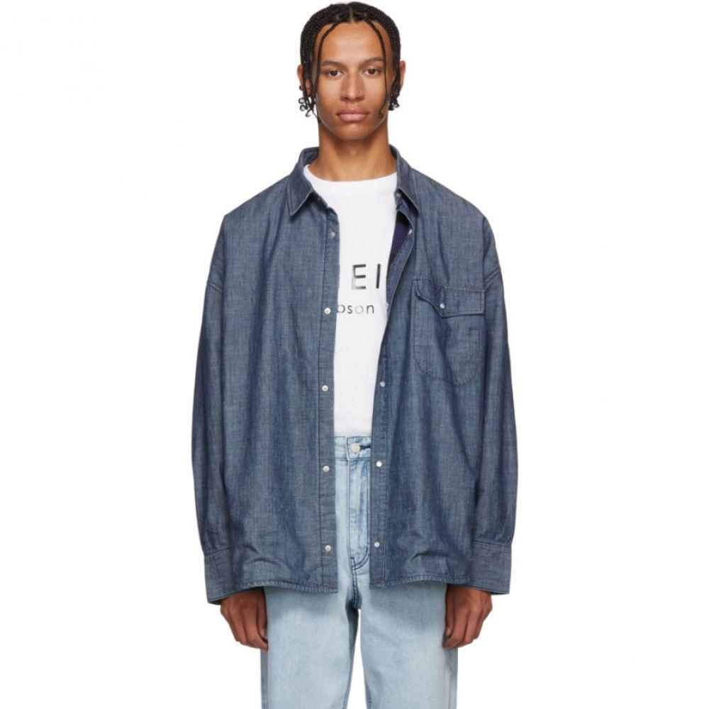ウェアボブソン Wheir Bobson メンズ トップス シャツ【Blue Denim Big Shirt】