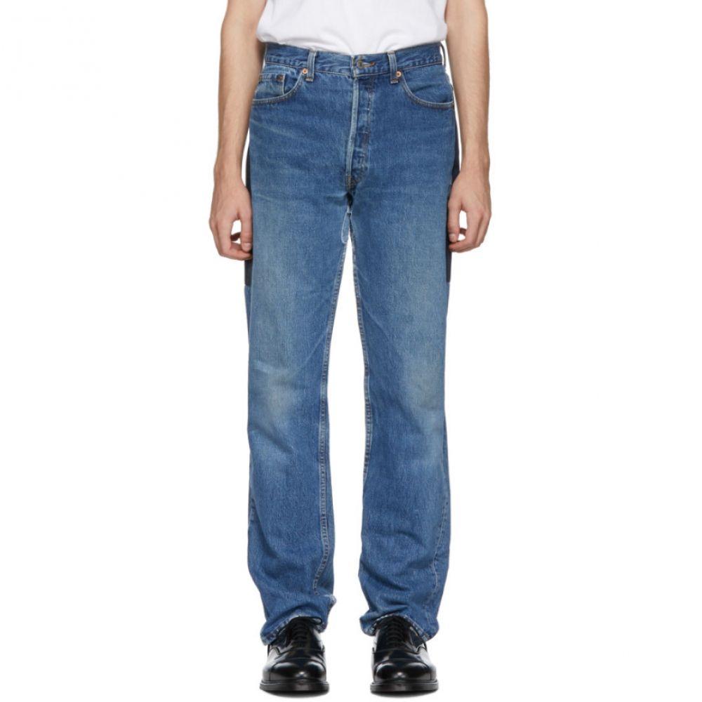 ビーサイズ B Sides メンズ ボトムス・パンツ ジーンズ・デニム【Indigo Patchwork Reverse Jeans】