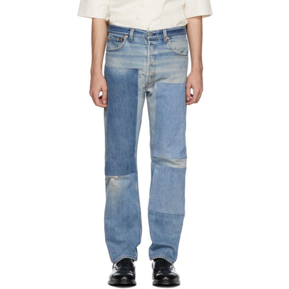 ビーサイズ B Sides メンズ ボトムス・パンツ ジーンズ・デニム【Indigo Reworked Three Patches Single Contrast Jeans】