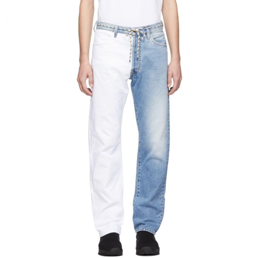 アリエス Aries メンズ ボトムス・パンツ ジーンズ・デニム【Blue & White Pascal Lilly Jeans】